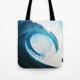 Flower of life in a wave Tote Bag