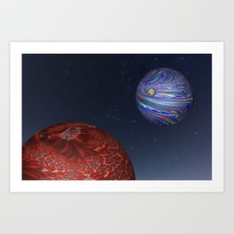 Earth From Mars Art Print