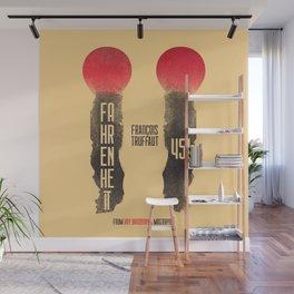 Fahrenheit 451, François Truffaut, french movie, british film, Ray Bradbury,  dystopian novel, book Wall Mural
