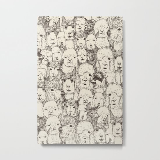 just alpacas natural Metal Print