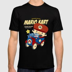 mario kart vintage Mens Fitted Tee Black LARGE