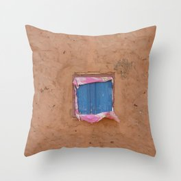 window in the mud Throw Pillow