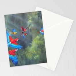 Manu Morning - Scarlet Macaws Stationery Cards