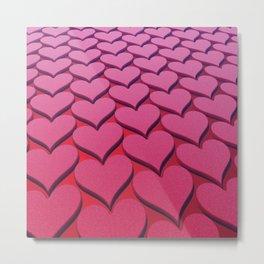 Textured 3D Heart Pattern Metal Print