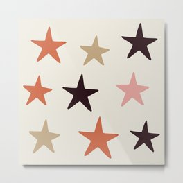 Star Pattern Color Metal Print