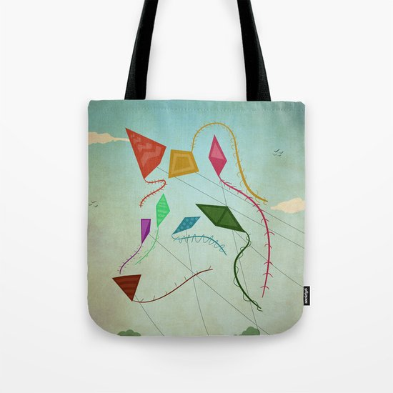 flying wolf Tote Bag