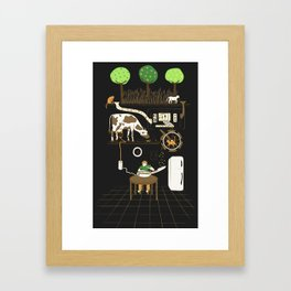 Now I Can Sit and Eat Cereal Forever Framed Art Print