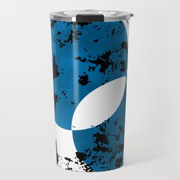 Blue & Black Travel Mug