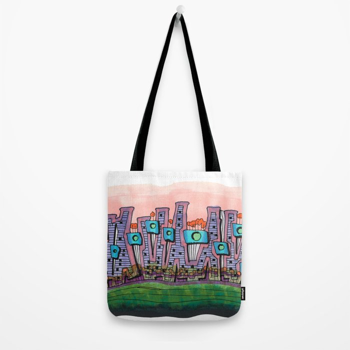 Waterfront Apartments Architectural Illustration 57 Tote Bag