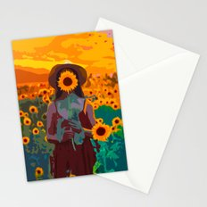 Sunflower Girl Stationery Cards