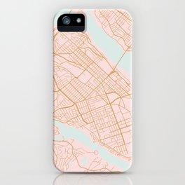 Halifax map, Canada iPhone Case