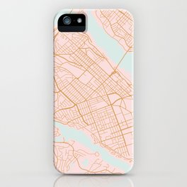 Halifax map, Canada iPhone Case