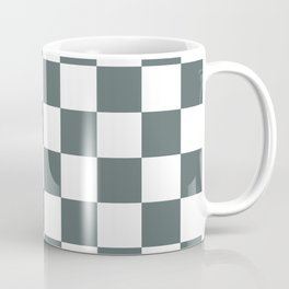 Checkered Pattern: Steel Grey Coffee Mug
