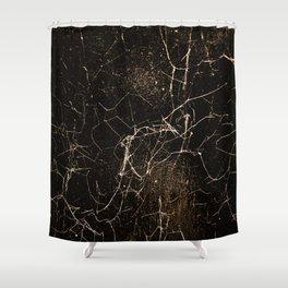 Spider Web Print Grunge Dark Texture Shower Curtain