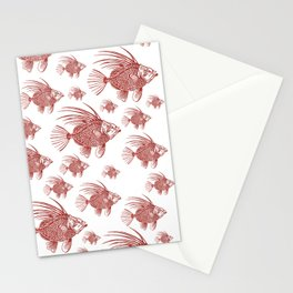 Red fish  Stationery Cards