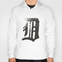 detroit Hoodies featuring Detroit by Landon Sheely