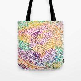 mandala15 Watercolor Mandala Tote Bag