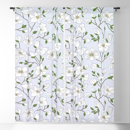 Cute White Floral Ditsy Pattern Blackout Curtain