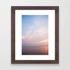 lake erie sunset Framed Art Print