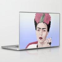 frida Laptop & iPad Skins featuring Frida by Acromatiq