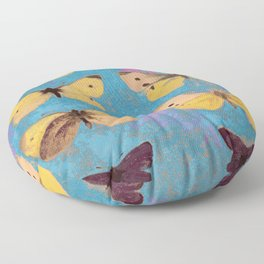 Butterflies on display Floor Pillow