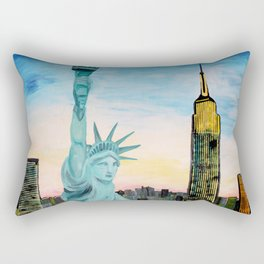 Statue of Liberty with view of NEW YORK Rectangular Pillow