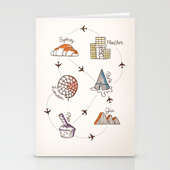 Sweet Travel Stationery Cards