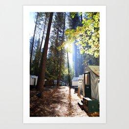 Yosemite Valley, Camp Curry Art Print