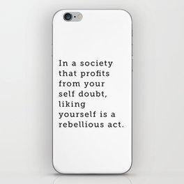 Liking Yourself iPhone Skin