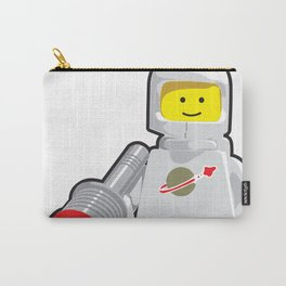 Vintage White Spaceman Minifig Carry-All Pouch