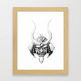 Oni Pointillism Framed Art Print