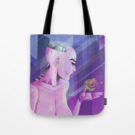 Lady cyborg Tote Bag