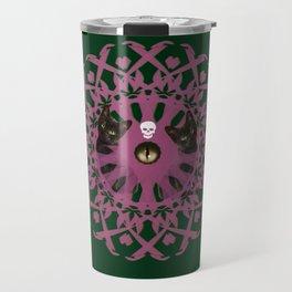 Cat Eye Mandala Travel Mug