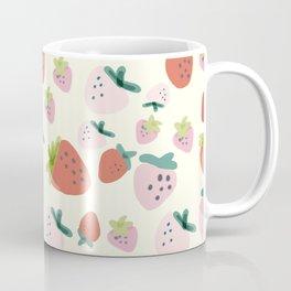 Red and pink strawberry pattern Coffee Mug