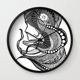 Intricate women in a dream Wall Clock