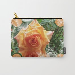 A Little Orange Rose Carry-All Pouch