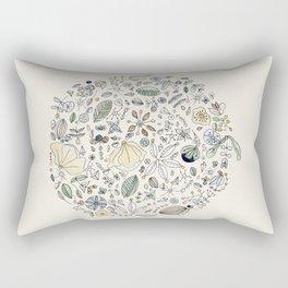Circulo de flores Rectangular Pillow