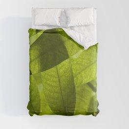 nature leaves digital art macro depth of field Comforters