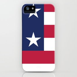 Simplified American Flag iPhone Case