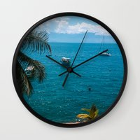 boats Wall Clocks featuring Boats by Mauricio Santana