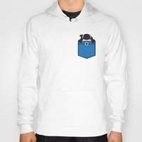 pocket Hoodies featuring Pocket Whale by Steven Toang