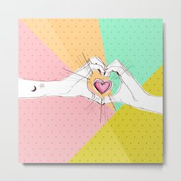 Heart Hands [Vintage Candy Edition] Metal Print