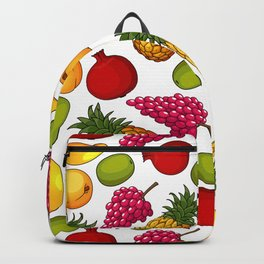 Fresh Tropical Fruits Seamless Pattern Backpack