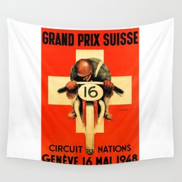 Grand Prix de Suisse, Race Poster, Vintage Poster, t-shirt Wall Tapestry
