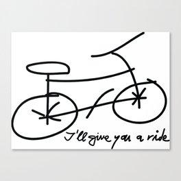Bike drawing Canvas Print