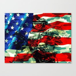 Military Branches of Service Canvas Print