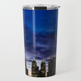 Skyline City Sunset Travel Mug