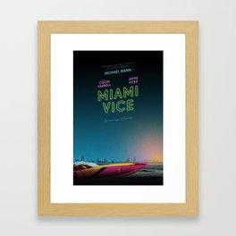 Miami Vice / Inherent Vice mashup poster Framed Art Print
