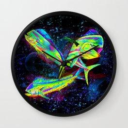 Mahi Dolphin Pop Wall Clock