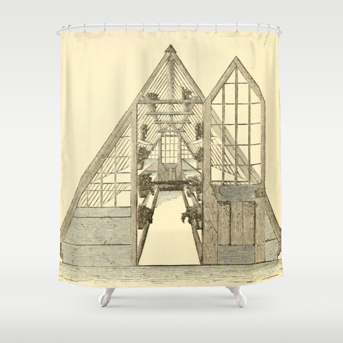 Antiquarian Greenhouse Shower Curtain